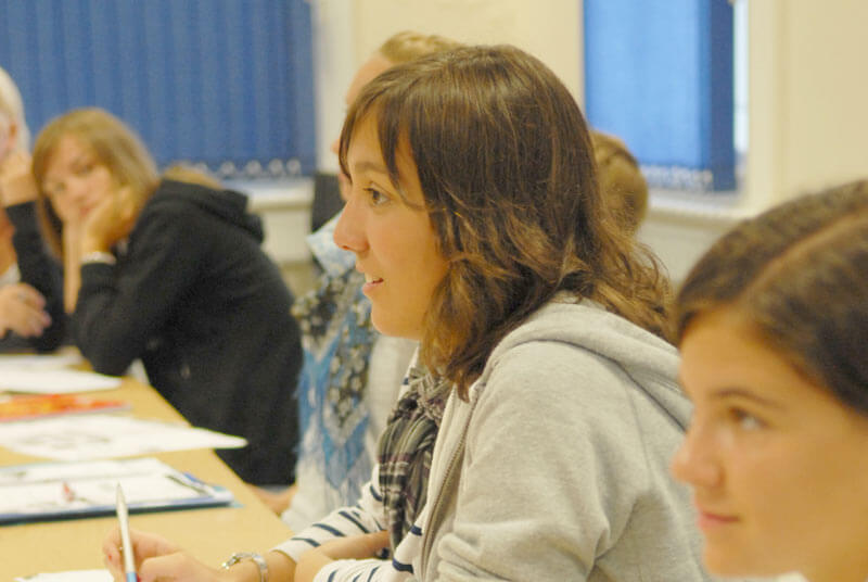 Junior English course students